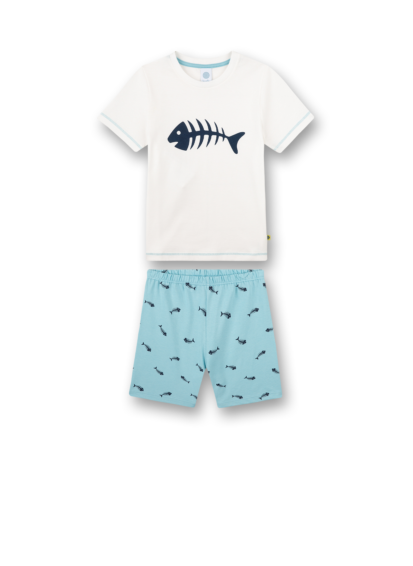 Pyjama short 116 white pebble Sanetta