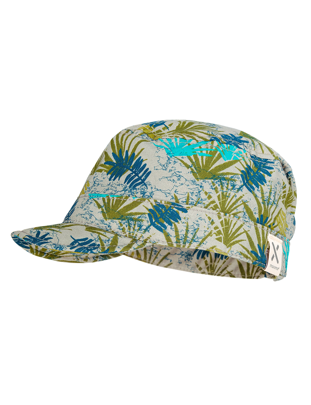 BOY-Cap 55 Maximo. Farbe: sand-grün-palmenblätter, Größe: 55