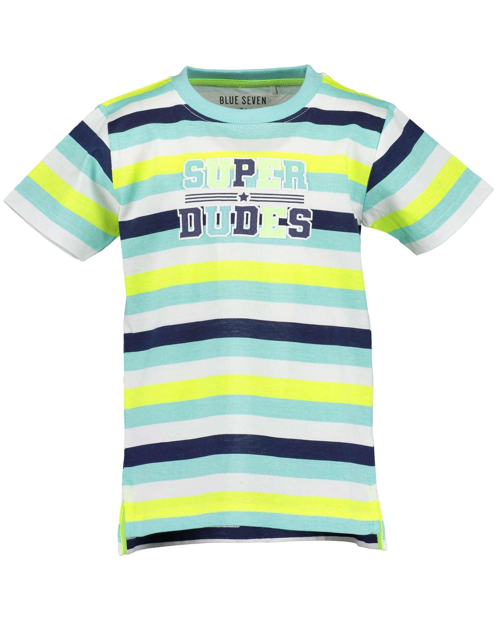 T-Shirt 116 hellgrün Blue Seven