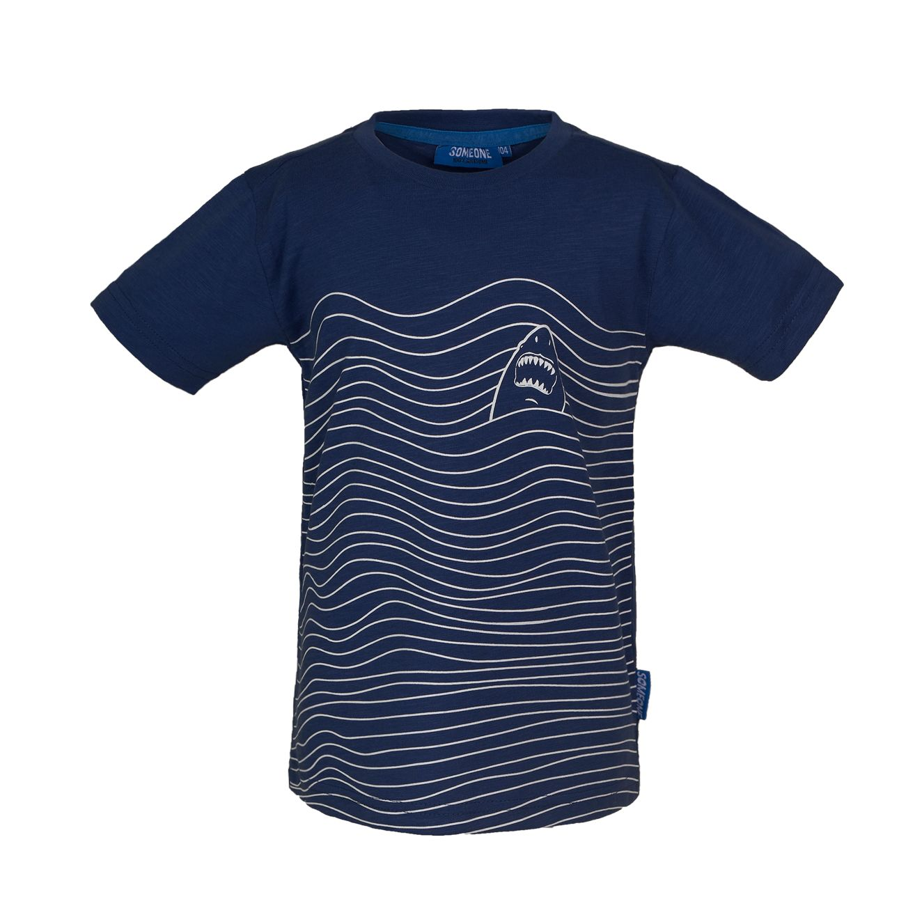T-Shirt Hai 098 Blue SOMEONE 100% Awesome