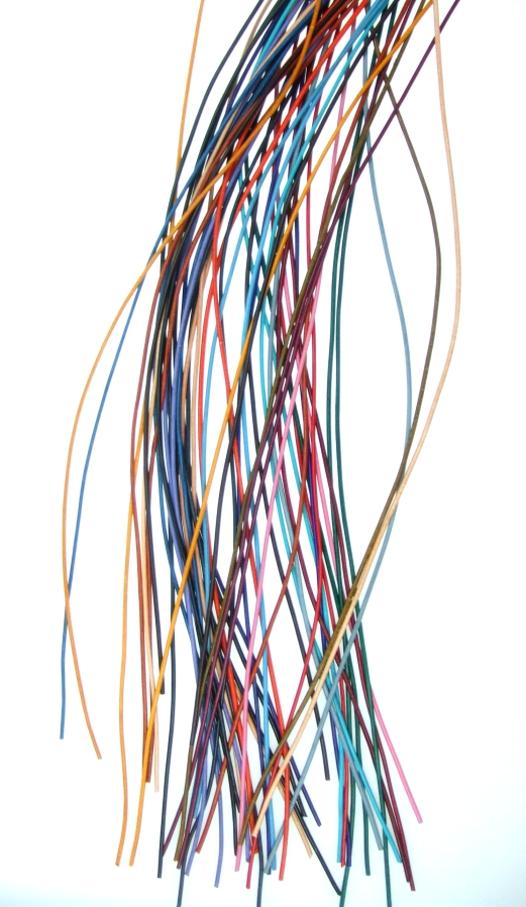 Lederband,2mm farbig /Schnur