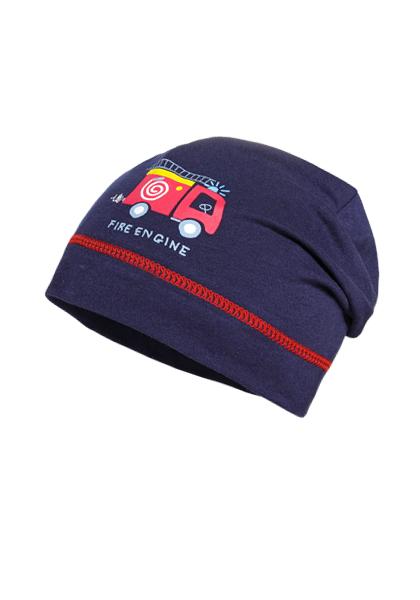 BOY-Beanie, fire engine Maximo. Farbe: navy, Größe: 47/49