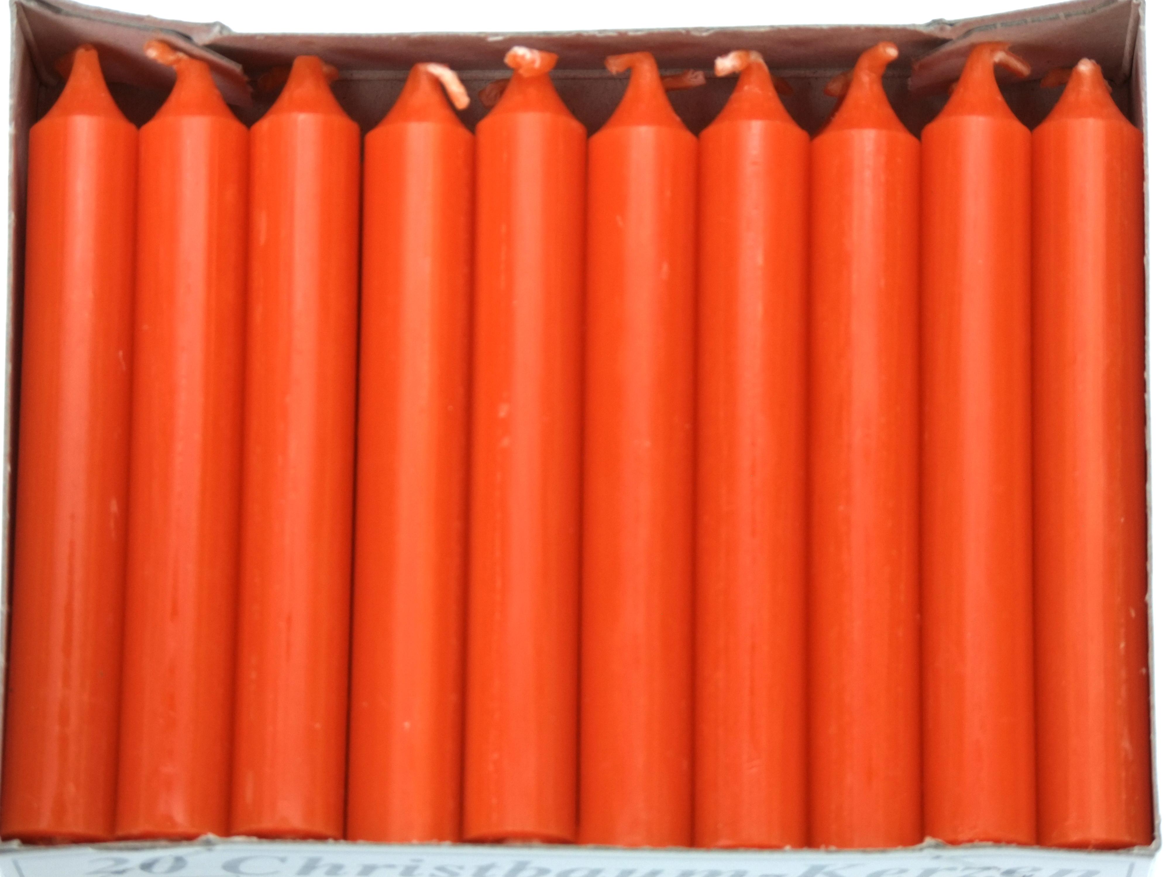 Kerze orange durchgefärbt