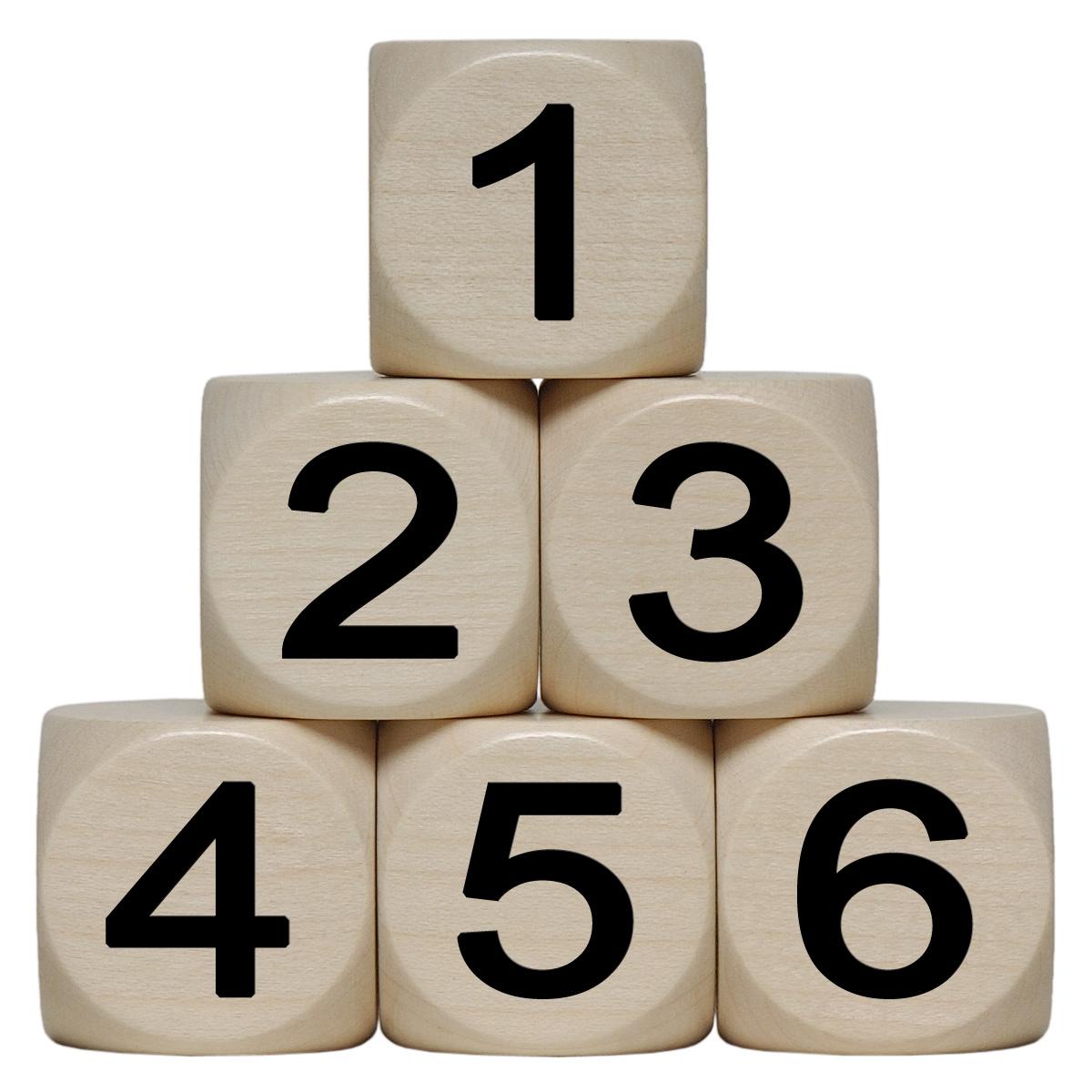 Zahlen-Würfel,Holz,groß
