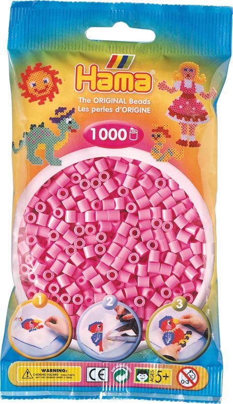 Perlenbtl 1000 St. past.pink HAMA Beutel mit Perlen Pastell pink 1.000Stück