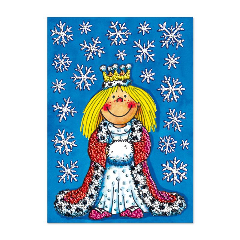 Glitzer-Fensterbild A4 Schnee