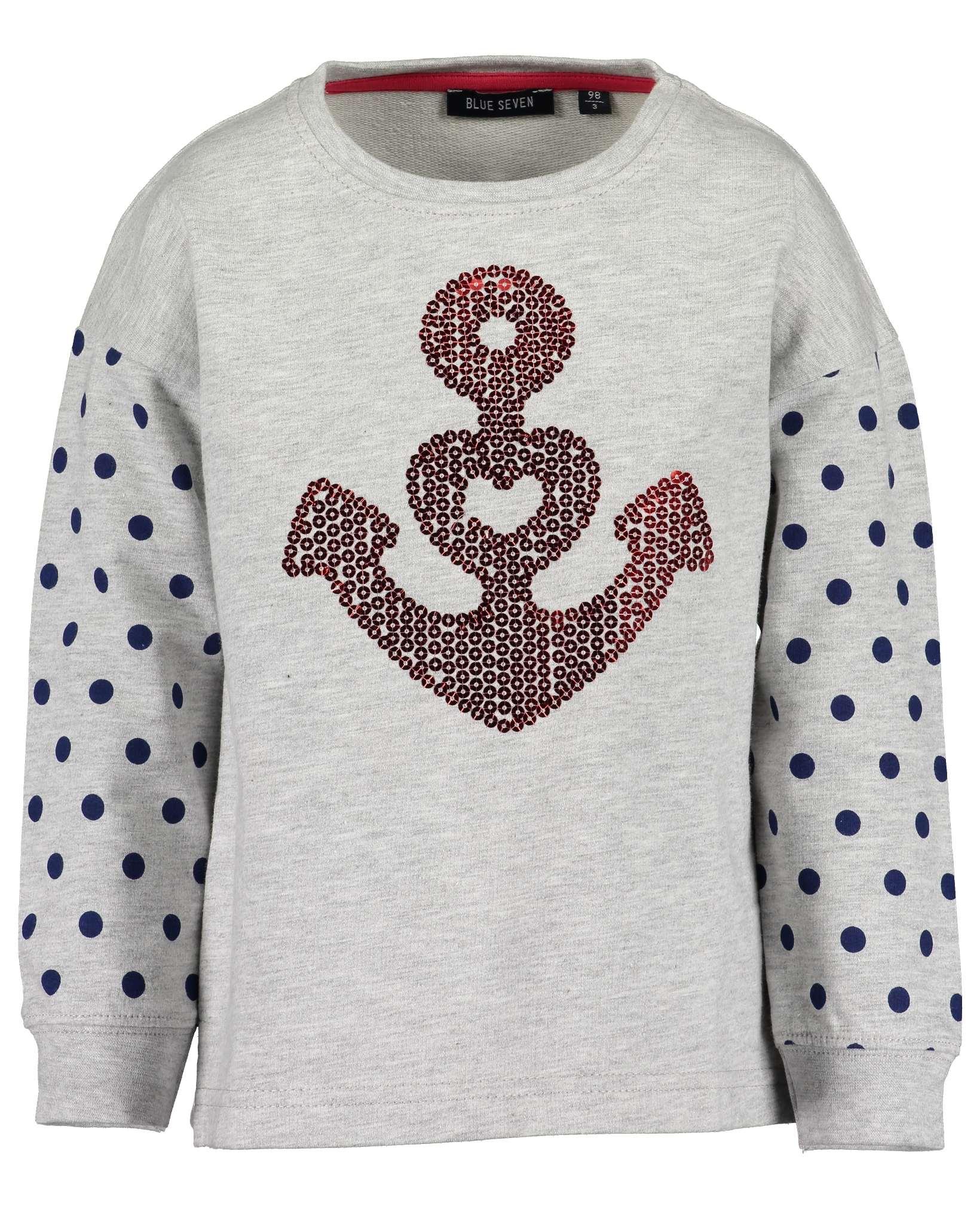 Sweatshirt 122 nebel Blue Seven