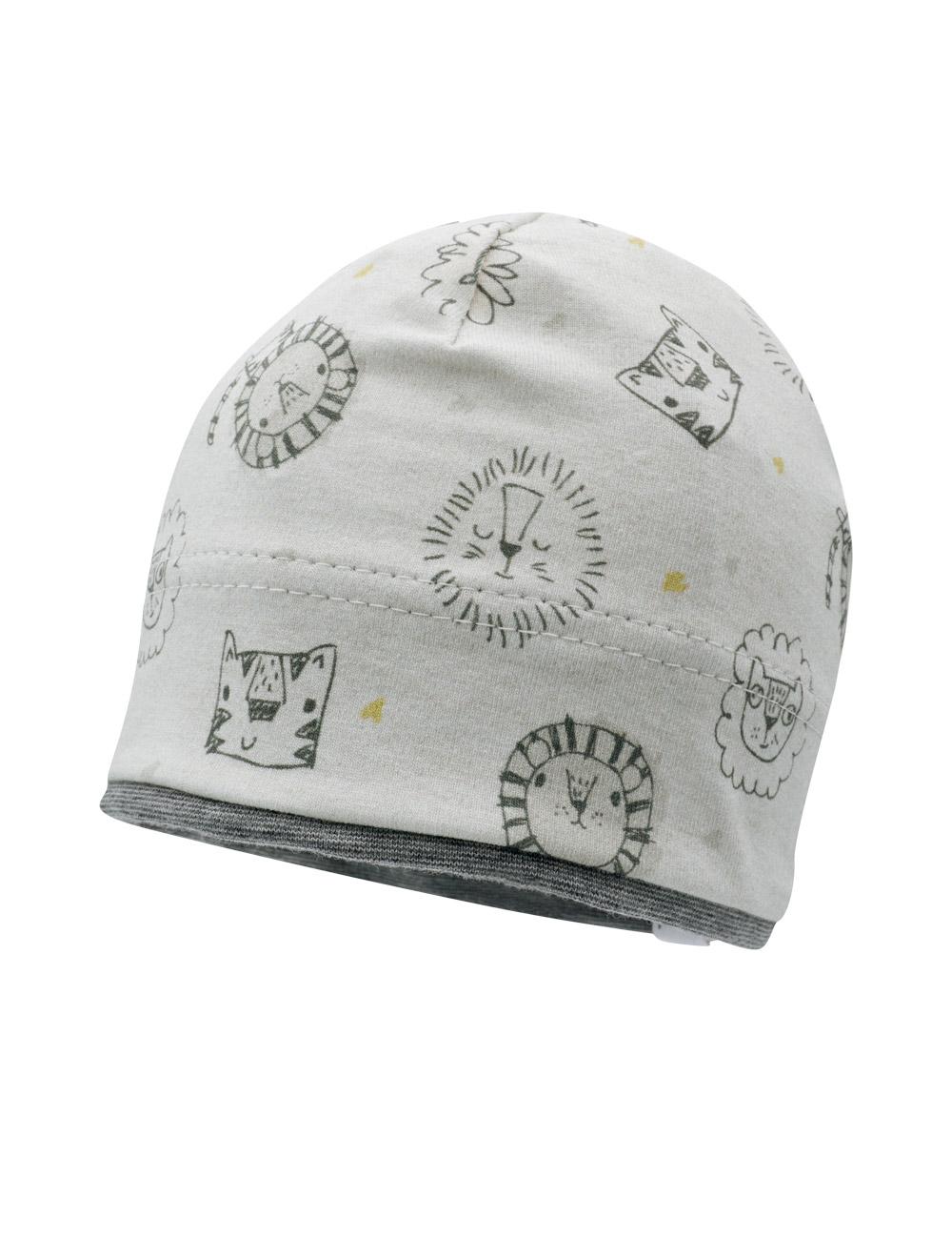 BOY-Mütze 49 Maximo. Farbe: silbermeliert-schwarz-tiger, Größe: 49