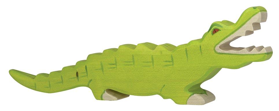 Krokodil ca. 26 x 2,8 x 8 cm, Holz, per Stück