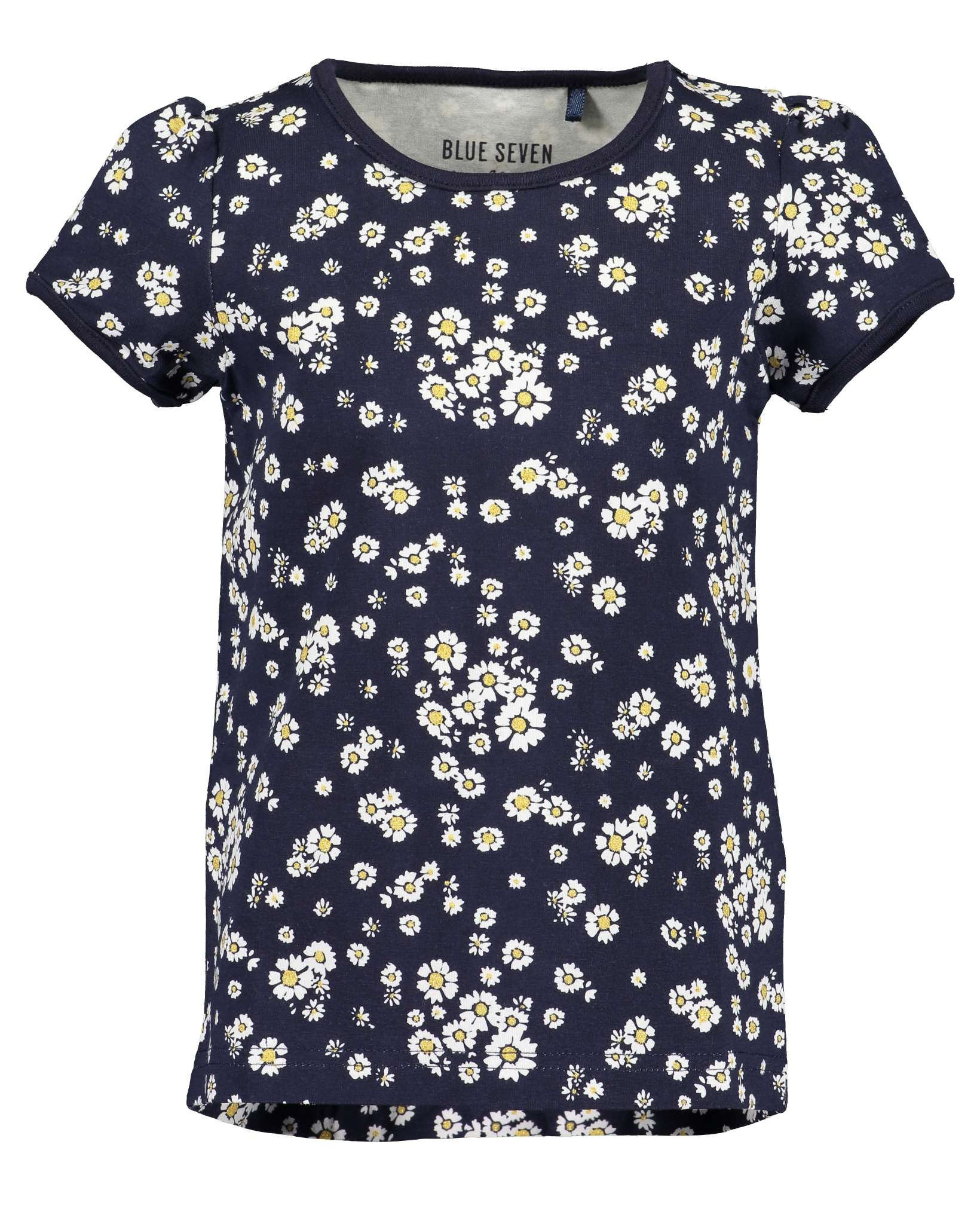 T-Shirt 122 blau Blue Seven