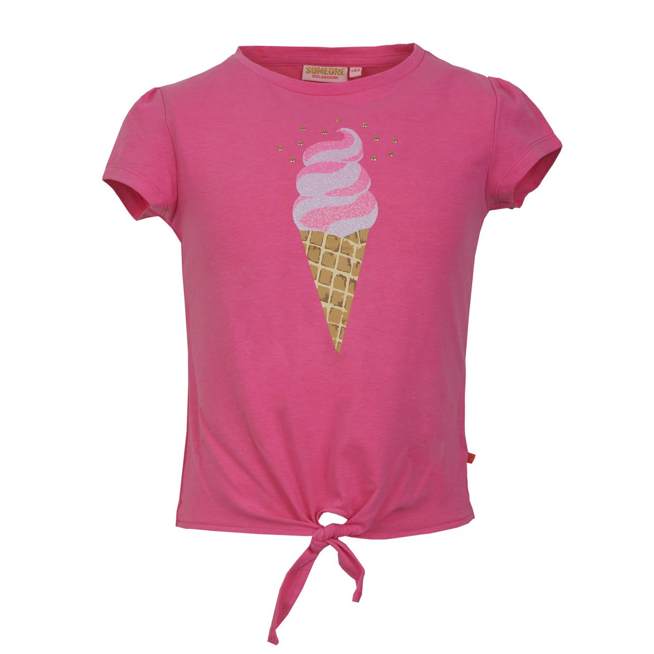 T-Shirt Eis 128 Pink SOMEONE 100% Awesome