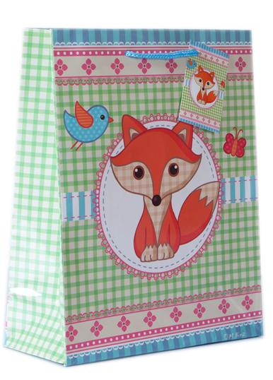 Geschenktasche Fuchs 18x23
