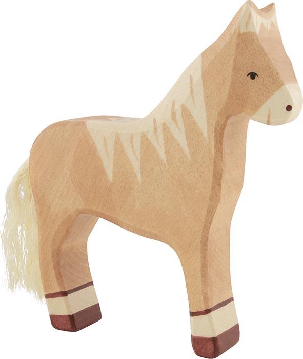 Pferd, stehend, hellbraun ca. 14 x 2,8 x 15,5 cm, Holz, per Stück