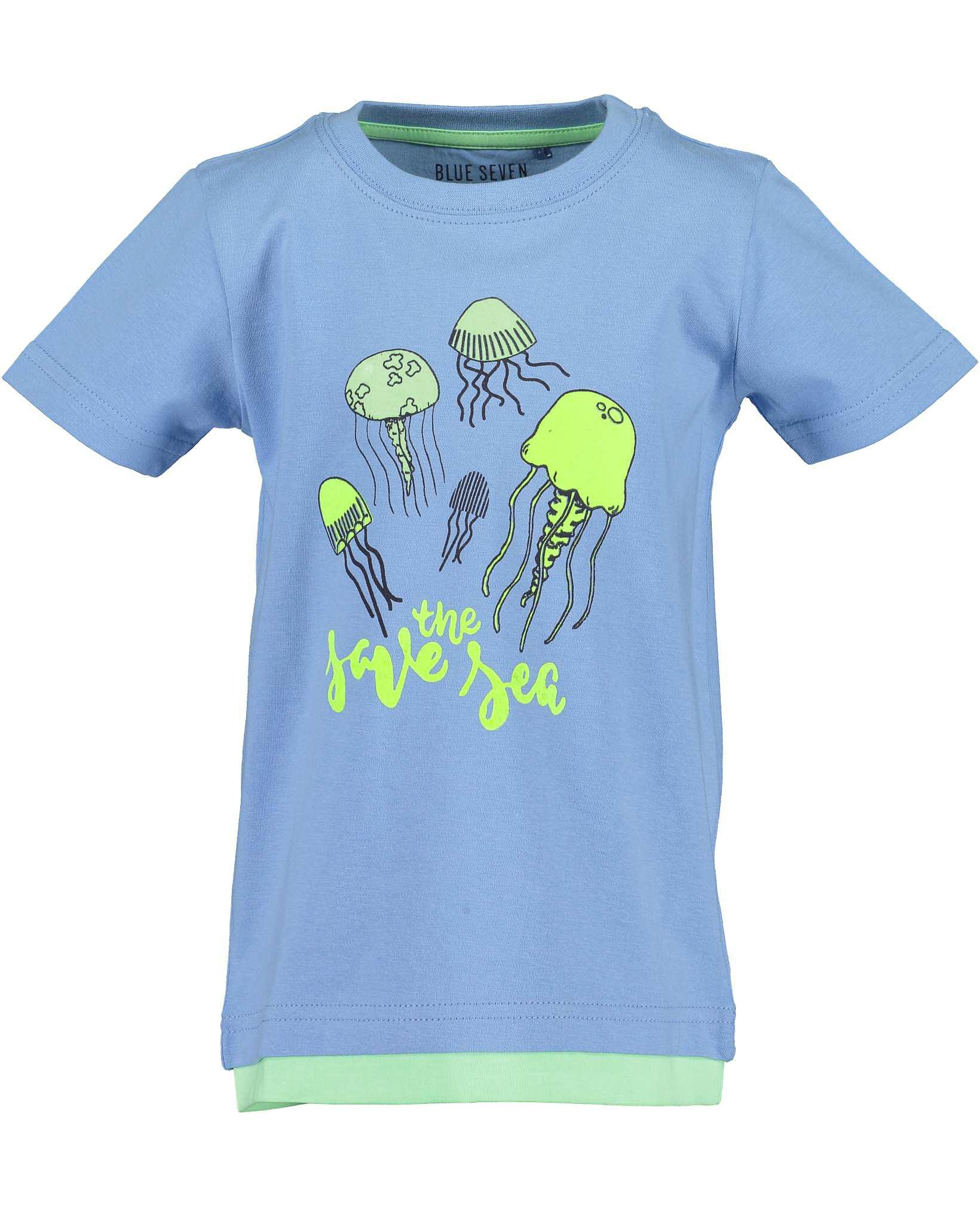 T-Shirt 092 hellblau Blue Seven