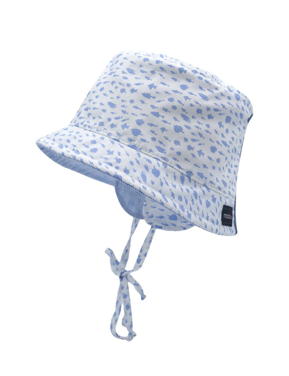 BOY-Hütchen, Ohrenklappen 45 Maximo. Farbe: arktikweiß-adria-fische, Größe: 45