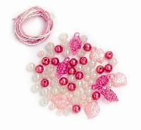 Perlen-Set weiß-rosa-pink