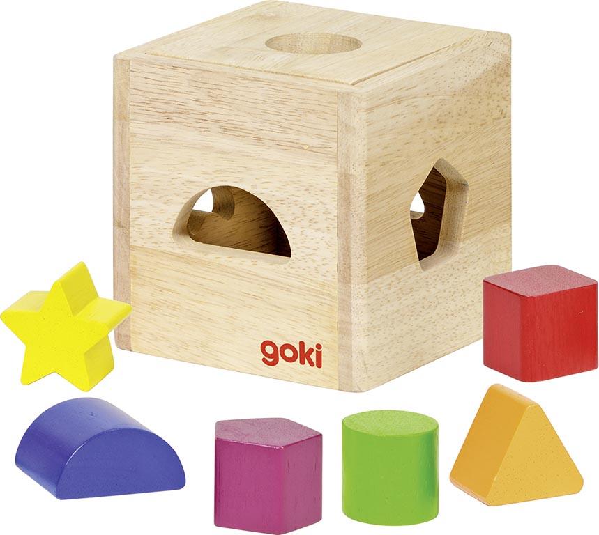Sort Box II 11 x 11 x 11 cm (Box), Holz, 6  Klötze, per Stück