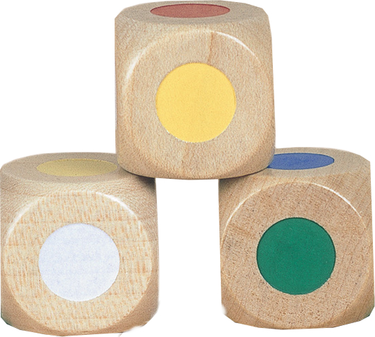 Farbwürfel,Holz,groß,Schachte