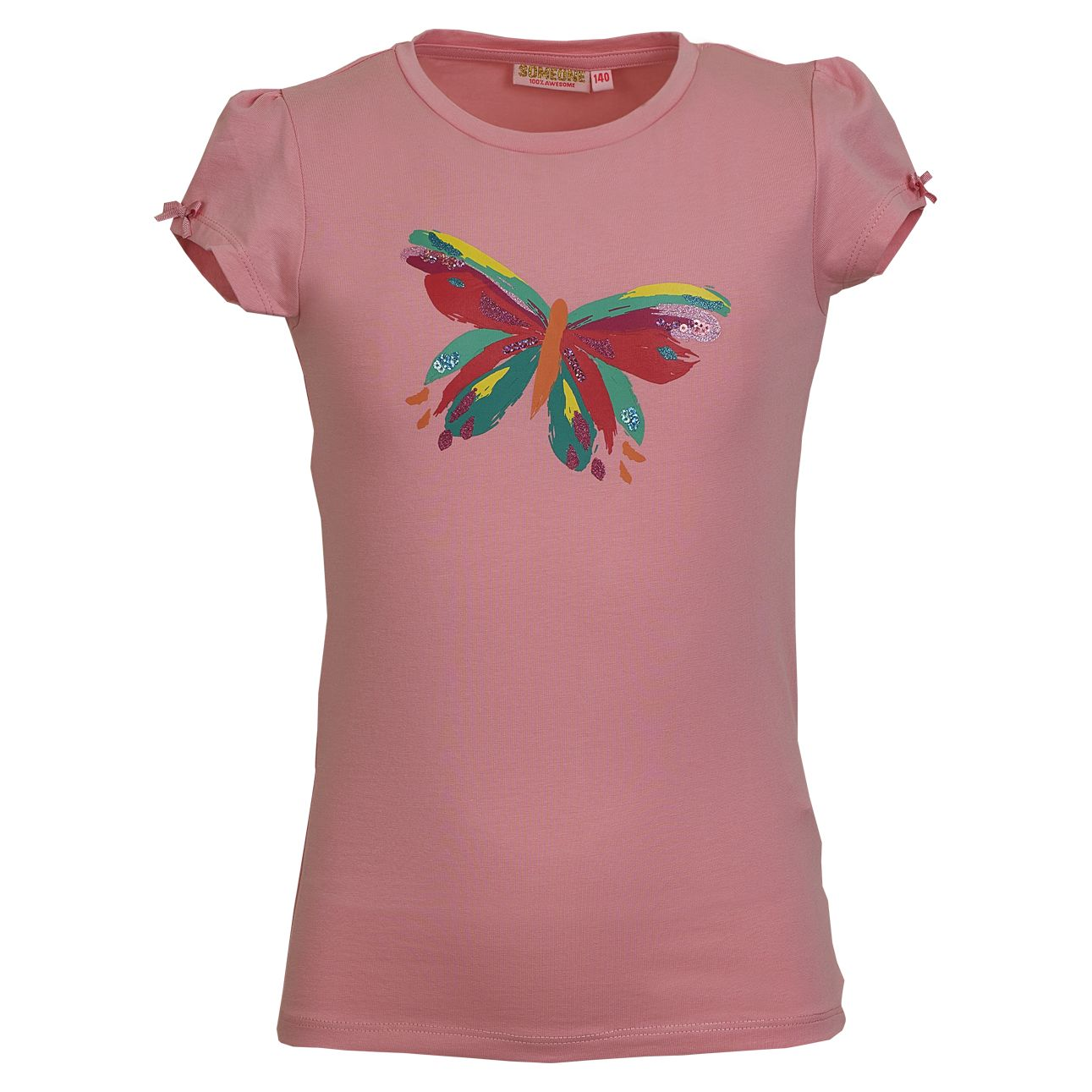 T-Shirt Butterfly 140 Pink SOMEONE 100% Awesome