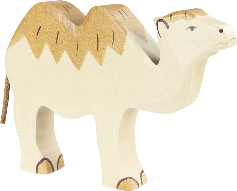 Kamel ca. 18 x 2,8 x 13,5 cm, Holz, per Stück