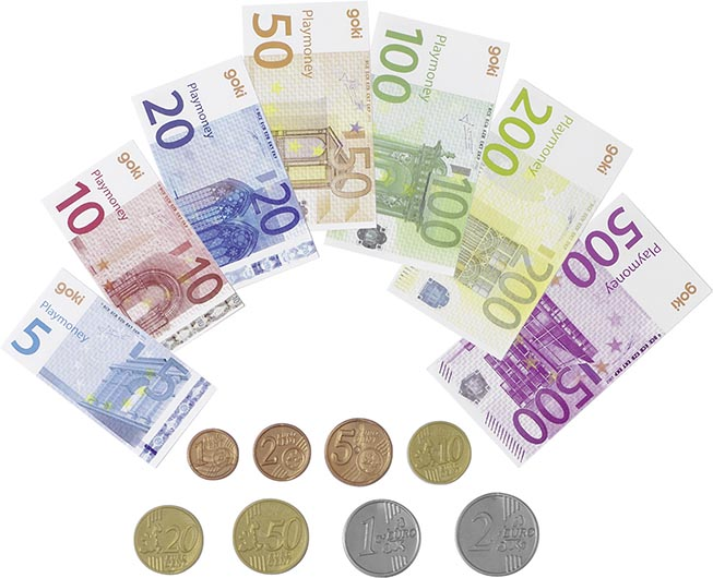 Spielgeld Geldscheine: 6,0 x 3,1 - 8,0 x 4,1cm
