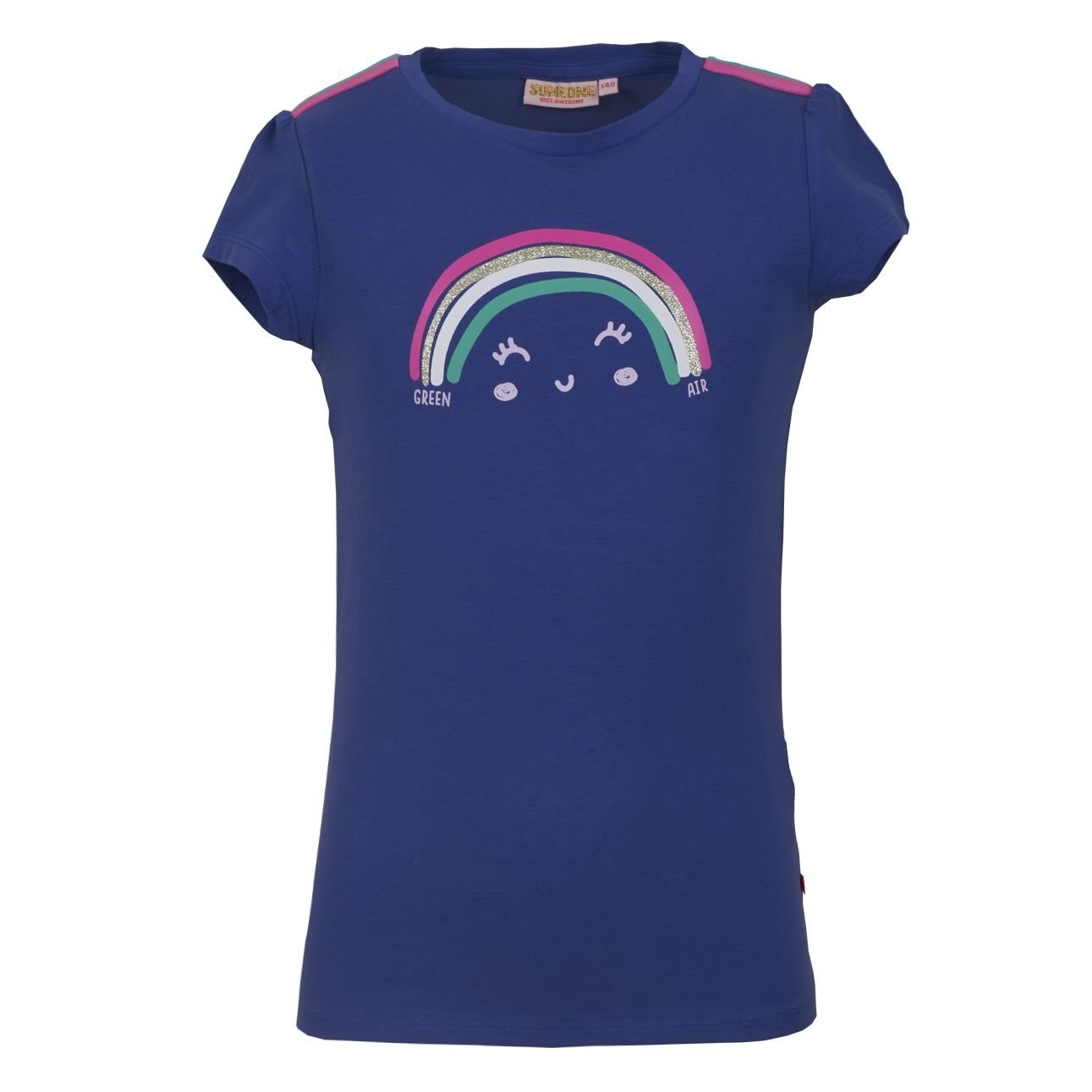 T-Shirt Regenbogen 134 Kobalt SOMEONE 100% Awesome