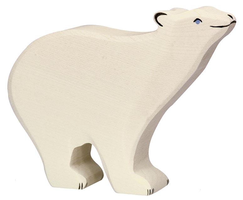 Eisbär ca. 15 x 2,8 x 12 cm, Holz, per Stück