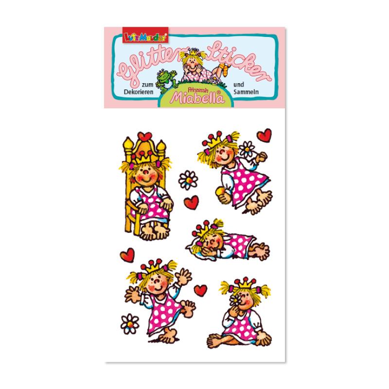 Glitter-Sticker kl. Prinzessi n