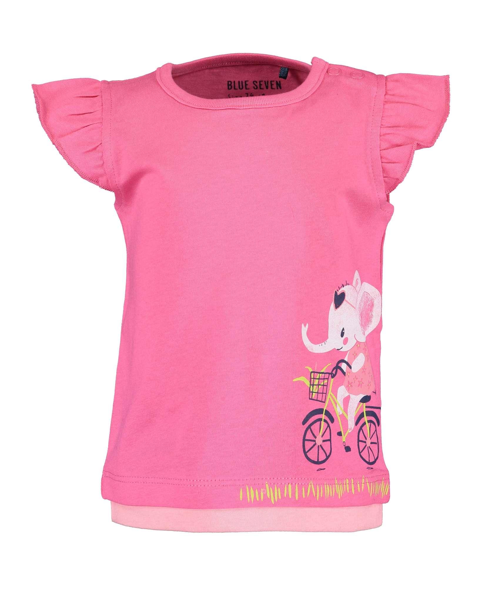 T-Shirt 086 pink Blue Seven