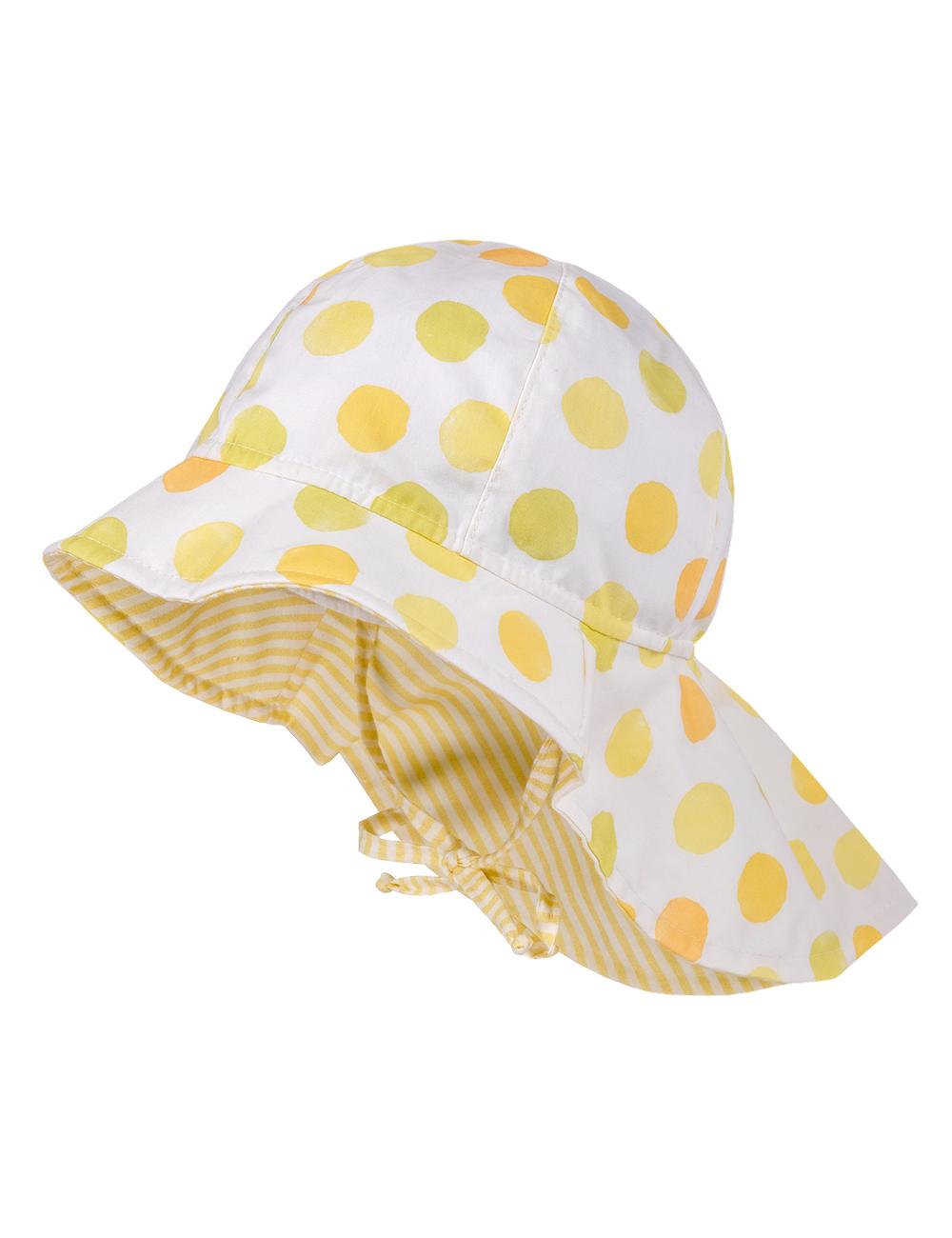 GIRL-Flapper,Nackenschutz 51 Maximo. Farbe: wollweiß-gelb-punkte/narzisse, Größe: 51
