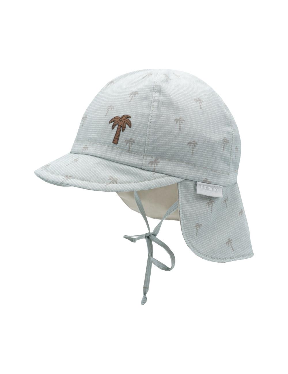 BOY-Schildmütze, Palmen 45 Maximo. Farbe: nebelgrau-lamm-palme, Größe: 45
