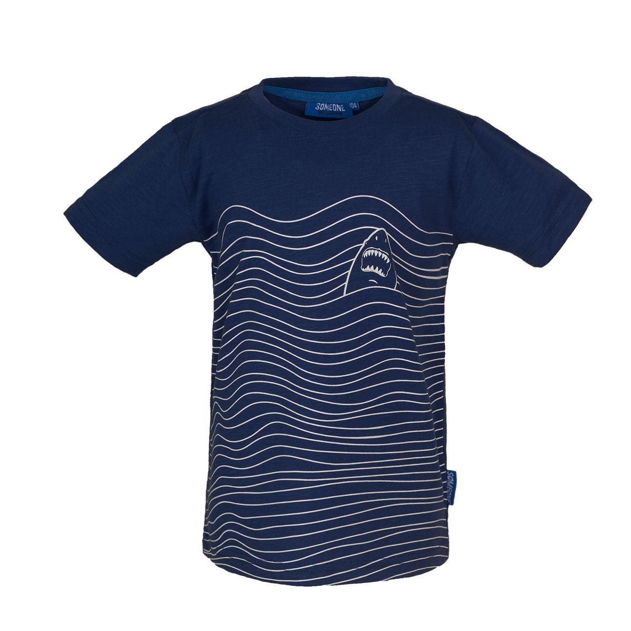 T-Shirt Hai 116 Blue SOMEONE 100% Awesome