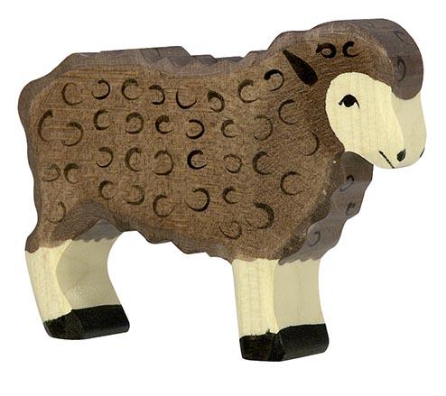 Schaf, stehend, schwarz ca. 10 x 2,3 x 7,5 cm, Holz, per Stück