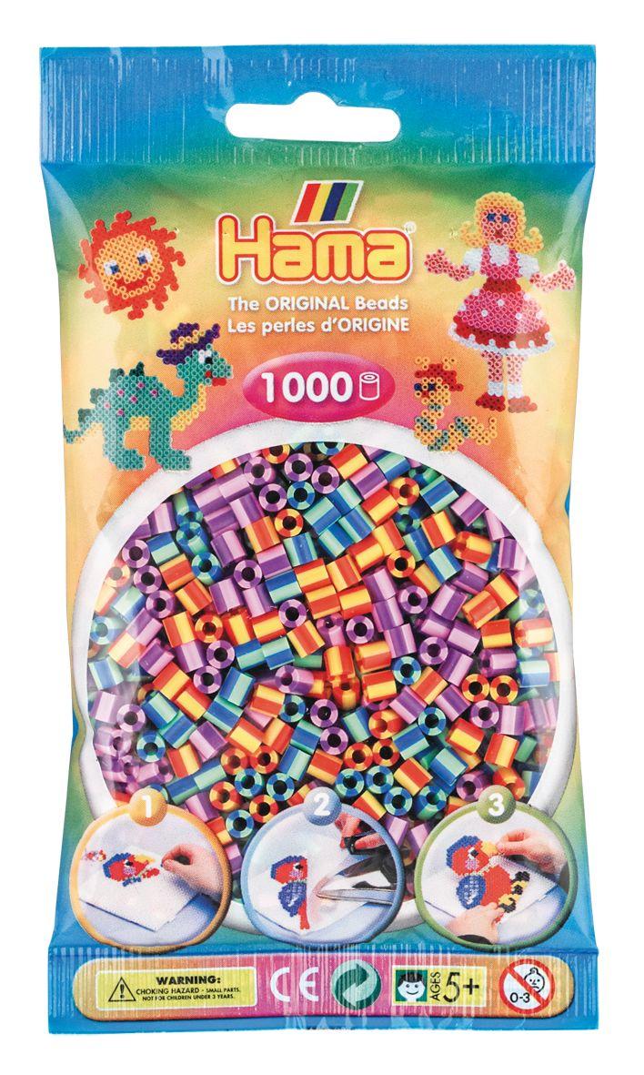 Perlenbtl. 1000 Stck. gestrei HAMA Beutel mit Perlen gestreift 3er Kombi 1.000St.