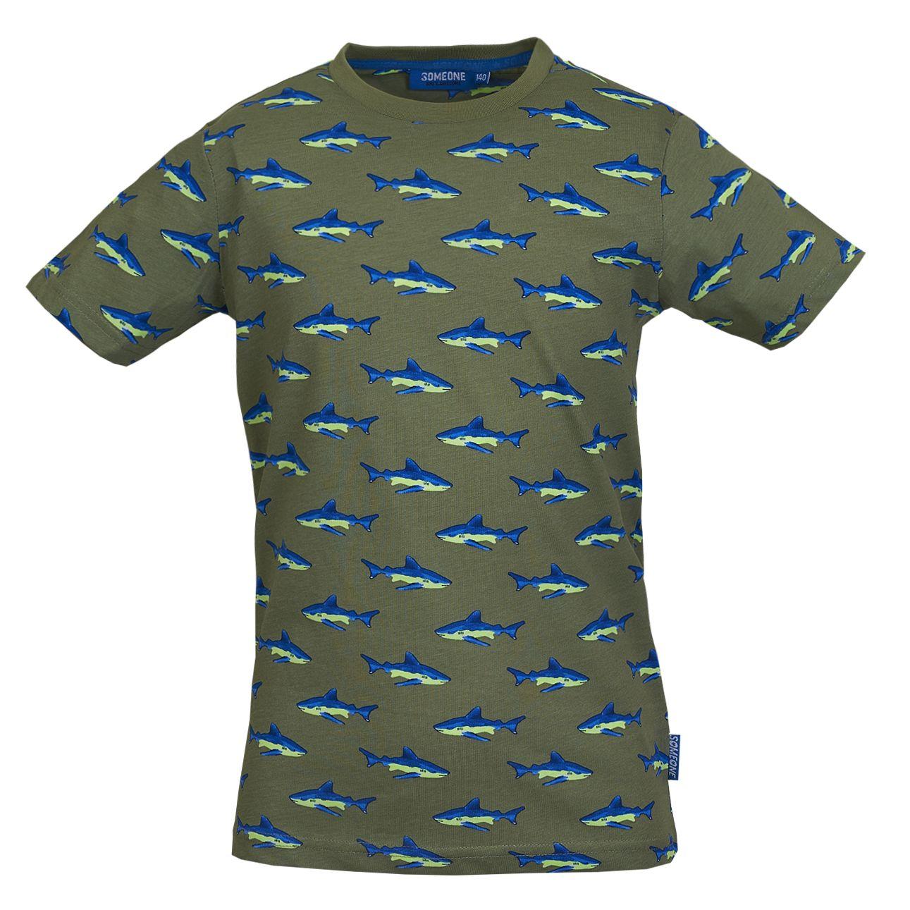 T-Shirt Haie 092 Khaki SOMEONE 100% Awesome
