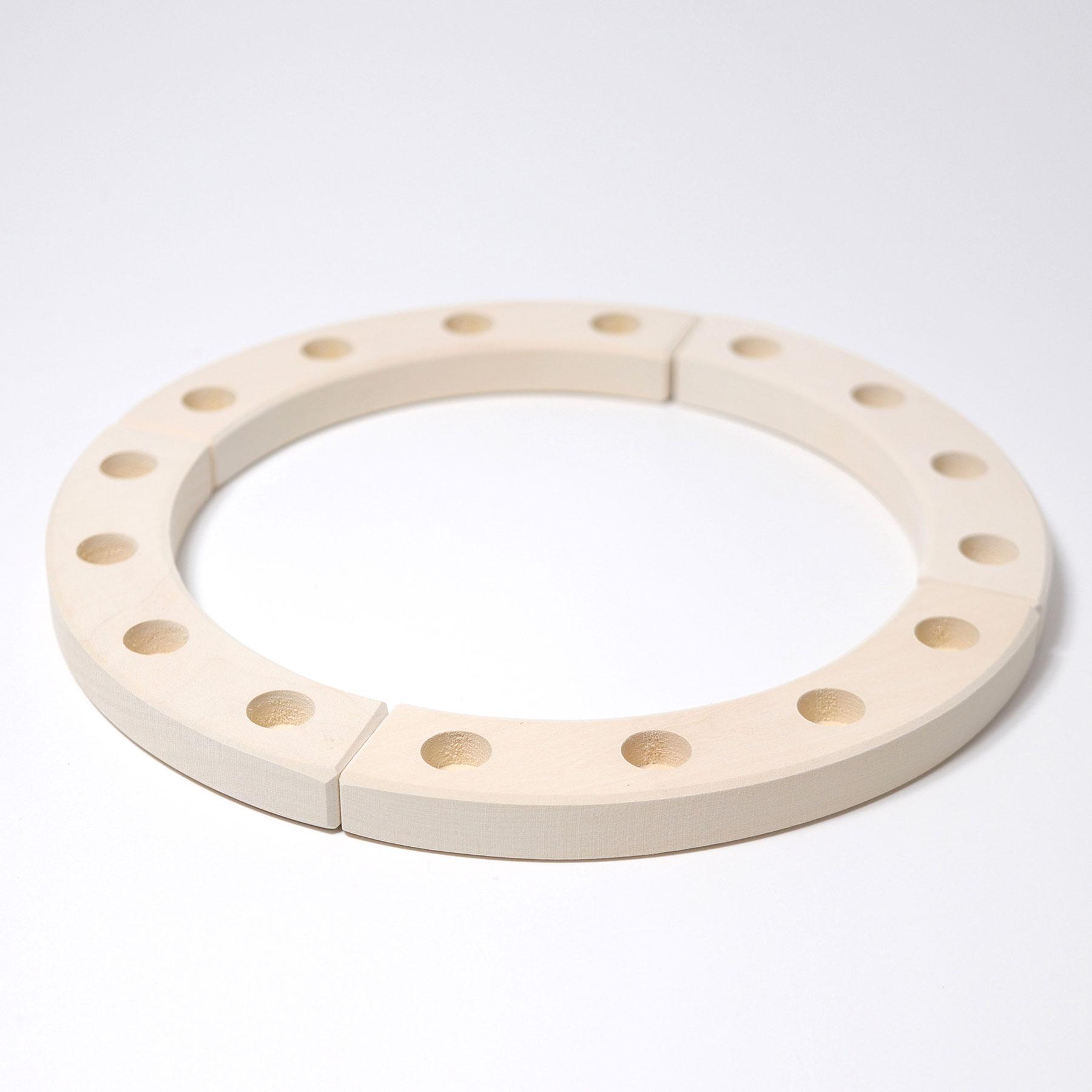 1/4 Ring weiss 4er