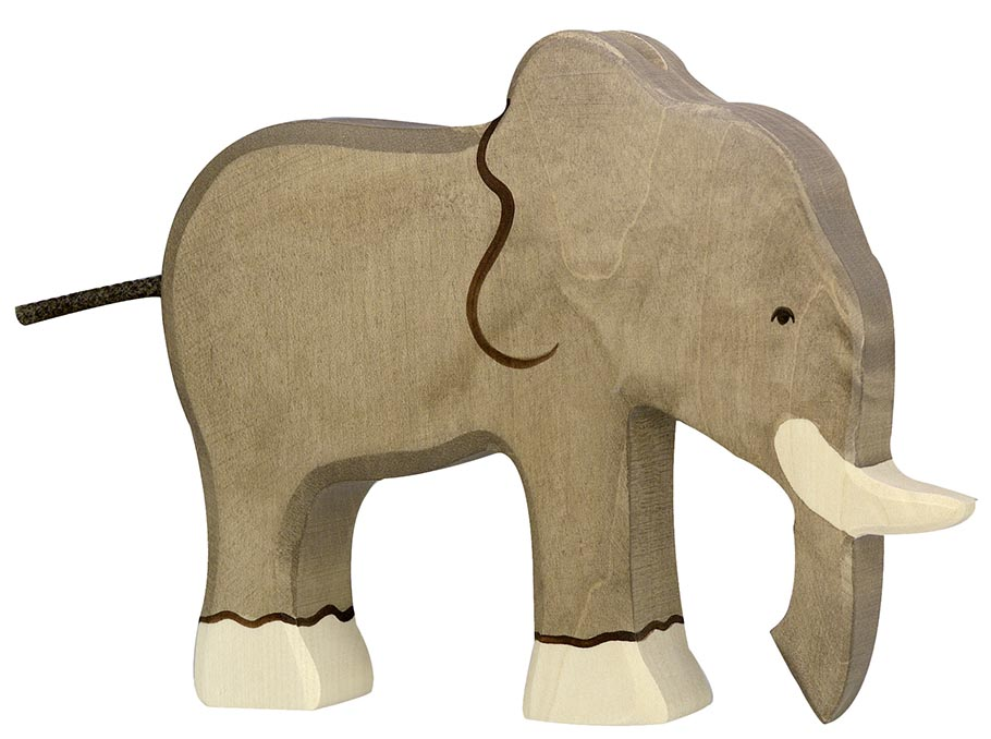 Elefant ca. 19 x 2,8 x 15 cm, Holz, per Stück
