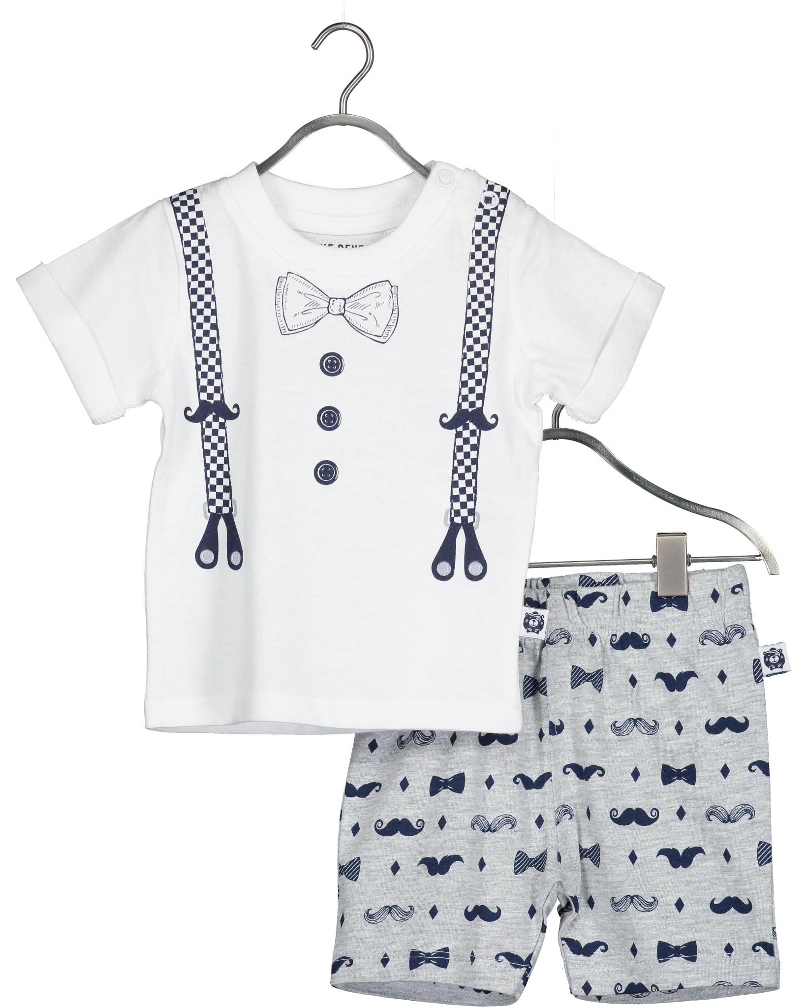Shirt & Shorts 068 weiss Blue Seven