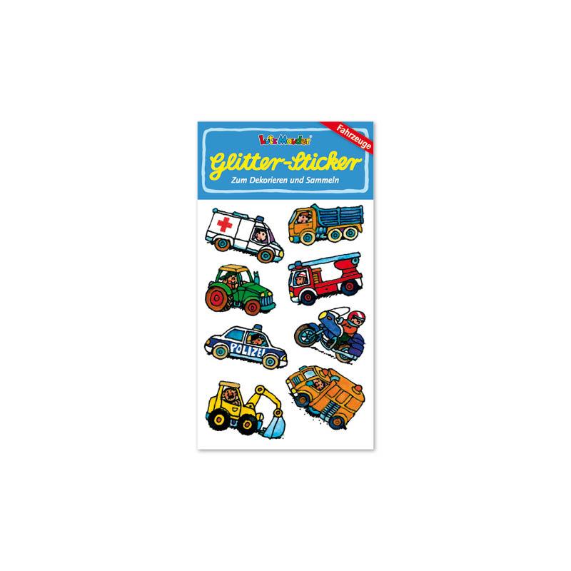 Glitter-Sticker Fahrzeuge