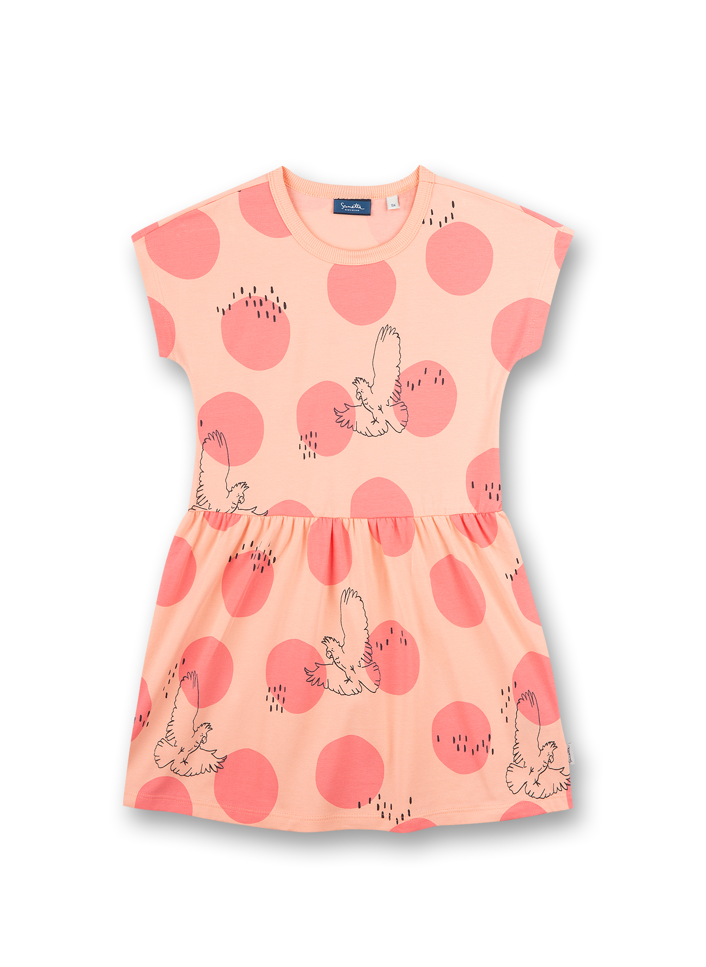 Dress 116 light peach Sanetta Kidswear