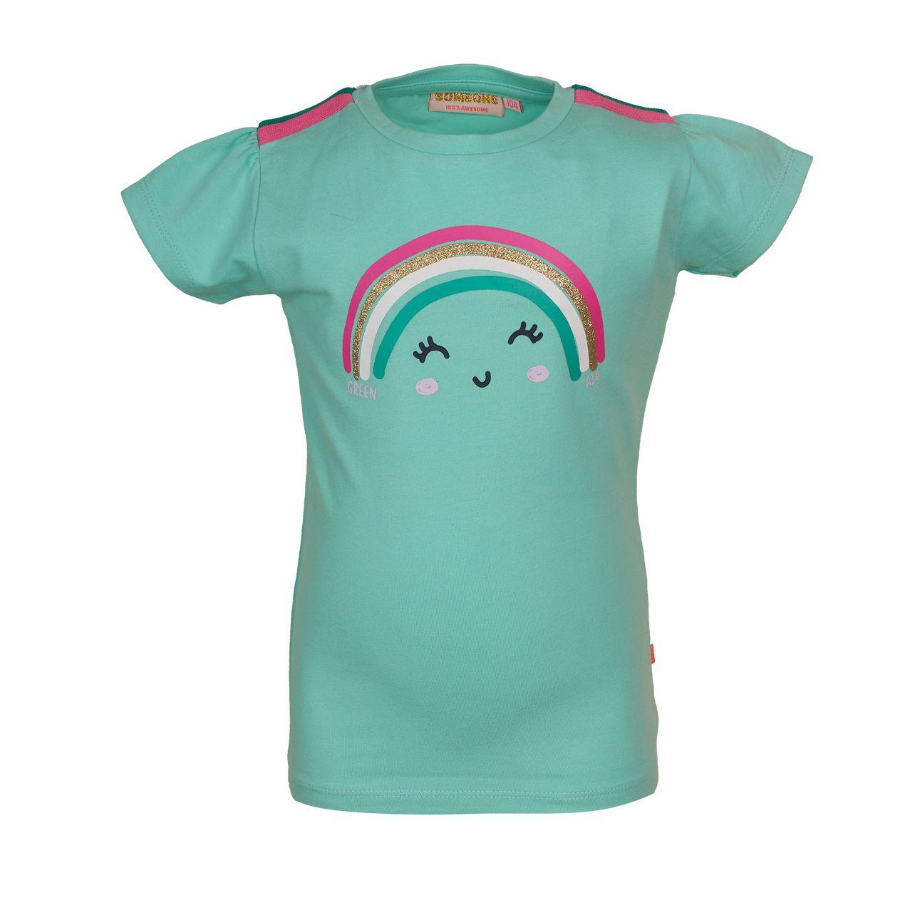 T-Shirt Regenbogen 098 Mint SOMEONE 100% Awesome