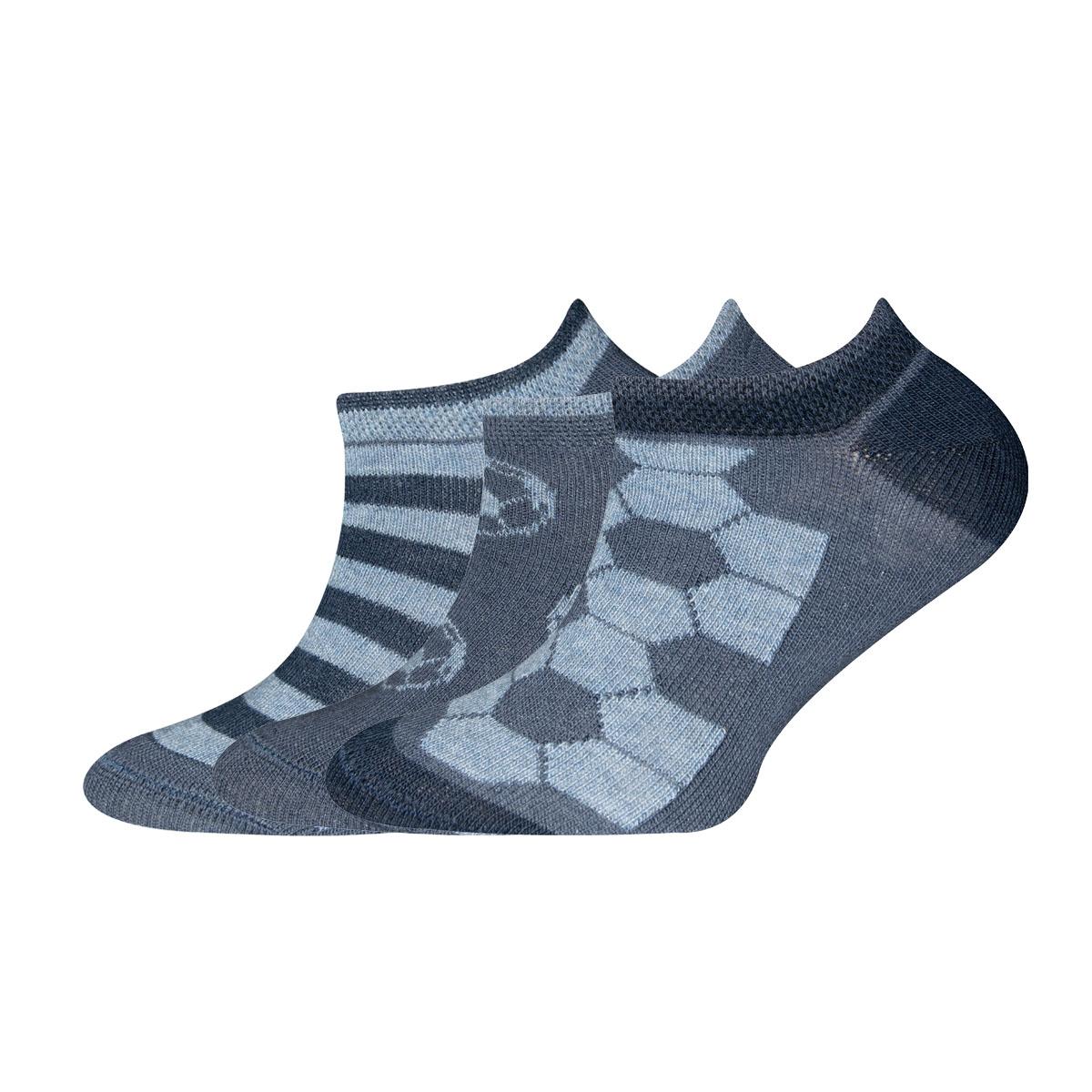Sneaker 3er Pack Fußball, Ringel, Größe: 27-30