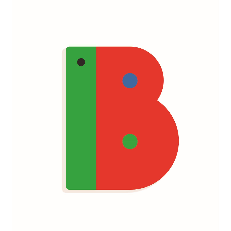 B - Holzbuchstabe