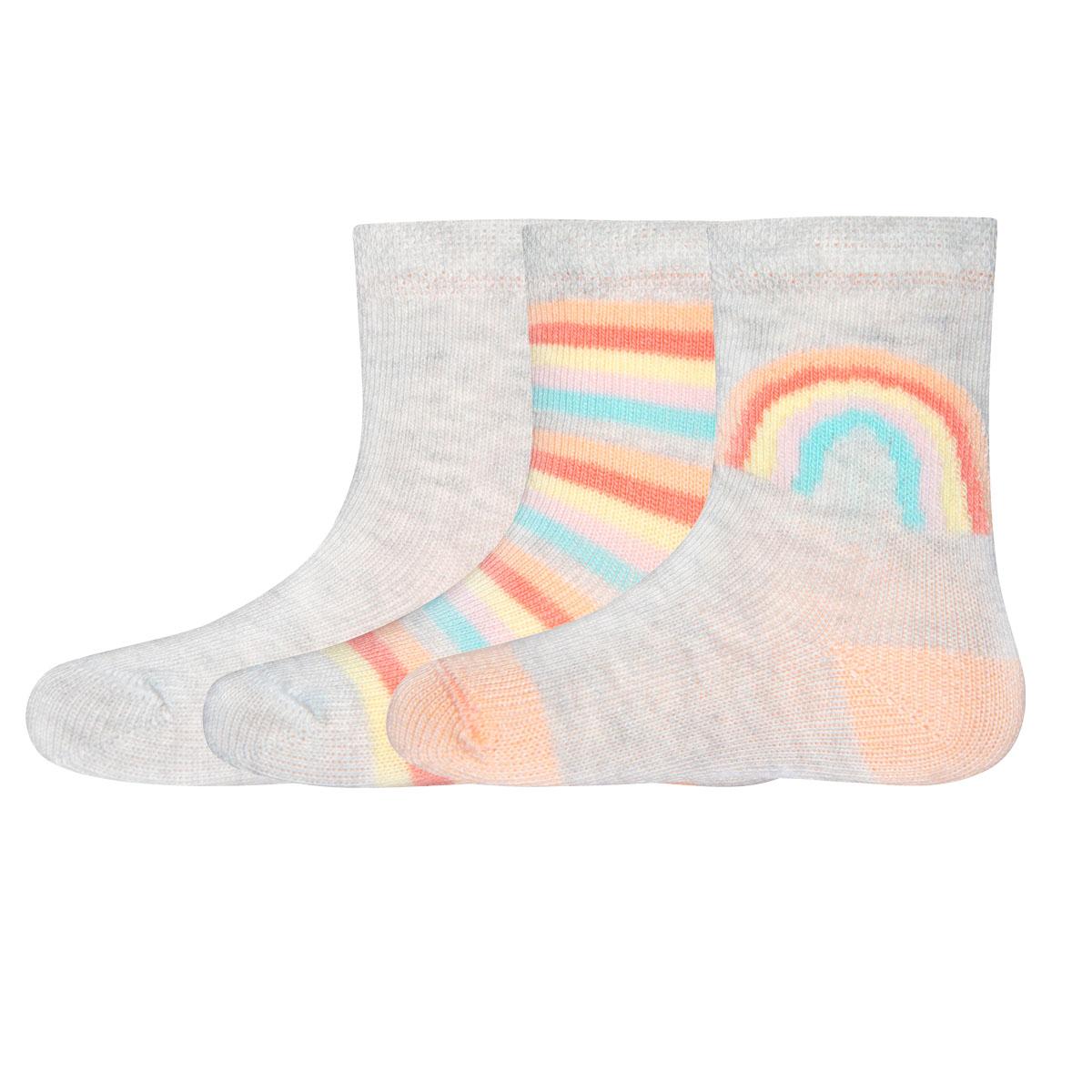 Socken 3er Pack Regenbogen, Uni, Größe: 16-17