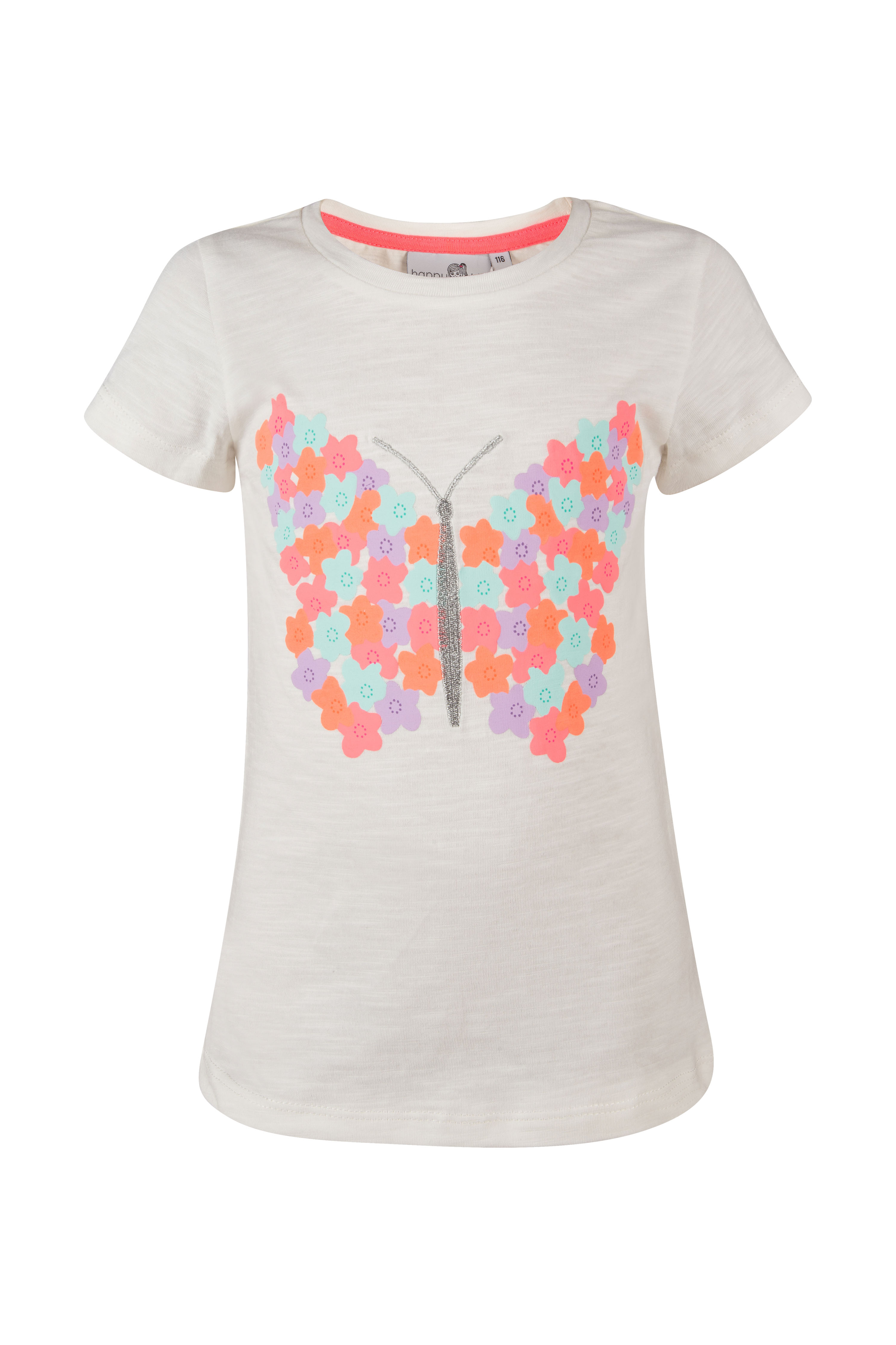 Shirt 104 neon pink happy girls by Eisend
