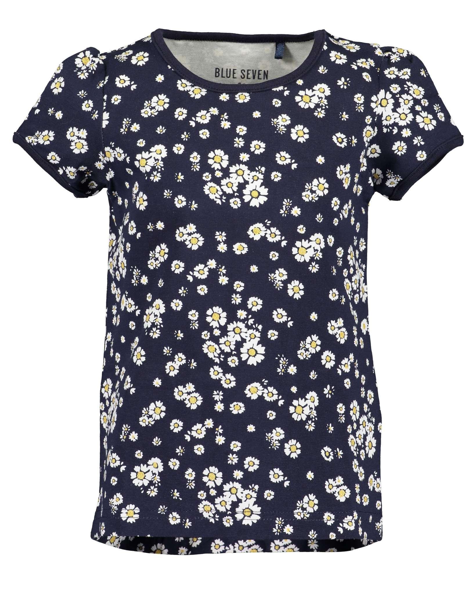 T-Shirt 092 blau Blue Seven