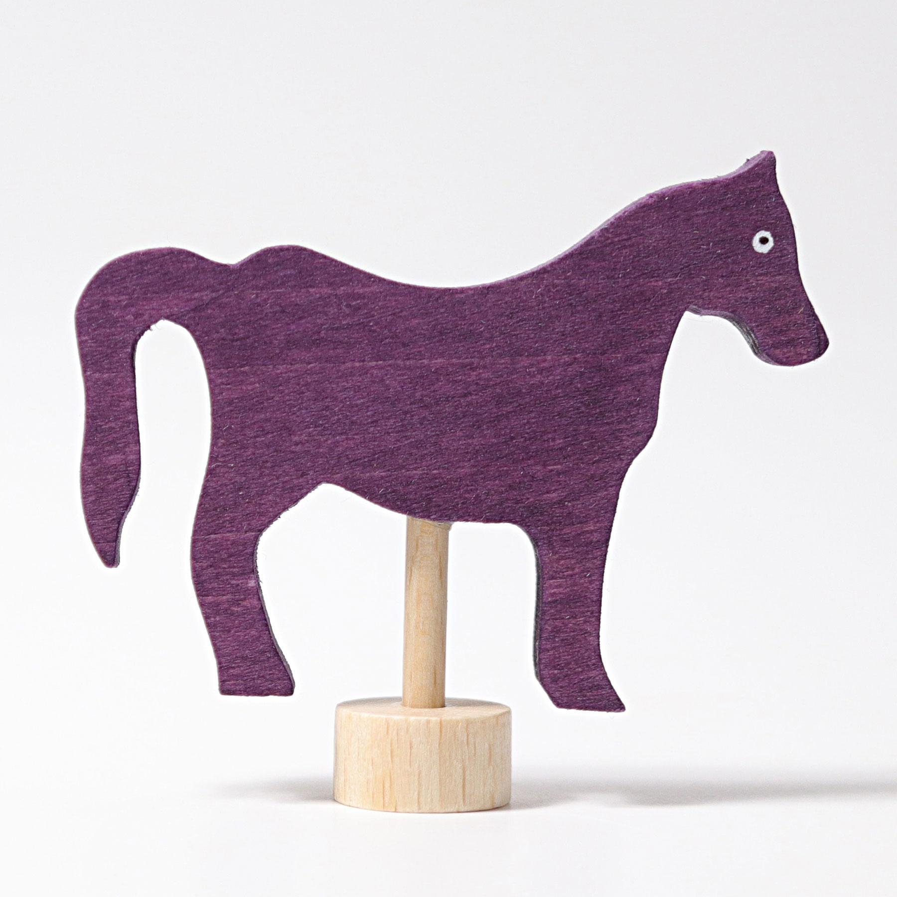 Stecker Pferd violett
