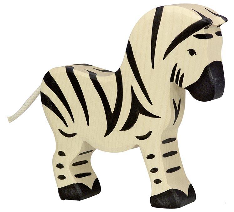 Zebra ca. 15 x 2,8 x 14 cm, Holz, per Stück