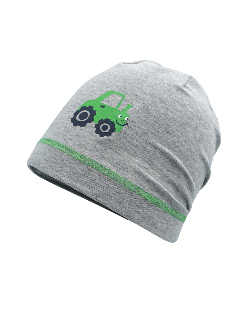 BOY-Beanie, tractor 51 Maximo. Farbe: graumeliert, Größe: 51/53