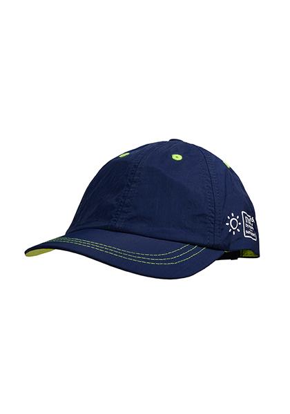 Cap sun protect,  47 Maximo. Farbe: navy/frisches grün, Größe: 47/49